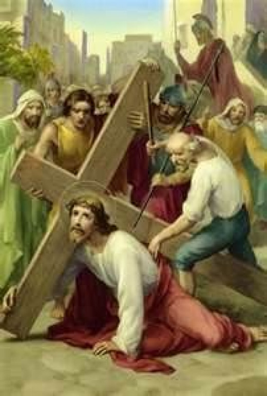 Stations of the Cross - Jesus falls the 1st time, 2nd time and 3rd time