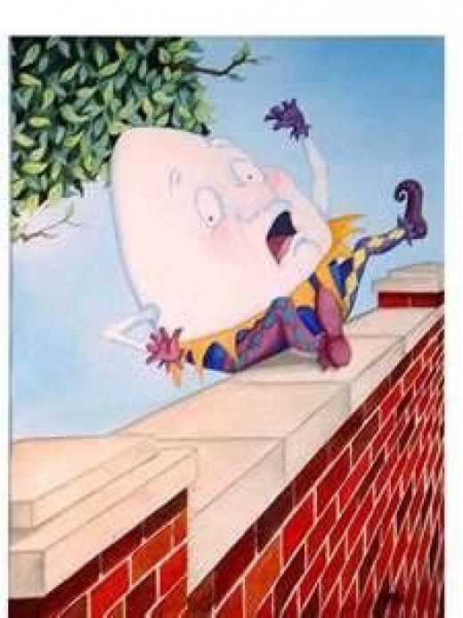 Humpty Dumpty sat on a wall - Humpty Dumpty had a great fall