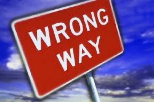 Road sign - Wrong Way