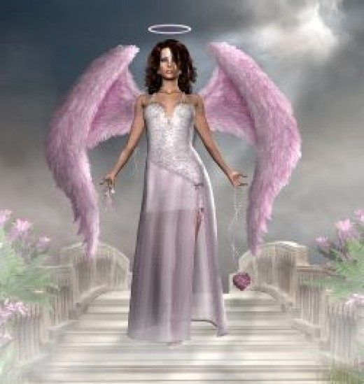 Beautiful Angel - Angel in Purple