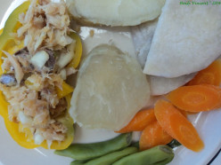 Lip Smacking Good Steamed Ground Provisions and Vegetables with Saltfish