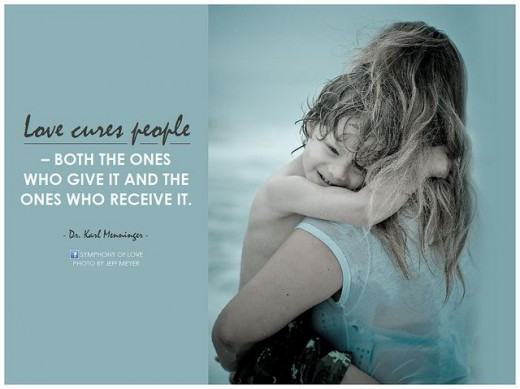 Love cures people - Mother and child hugging