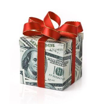 Gift Wrapped in Money - Money Gift - Gift of Money