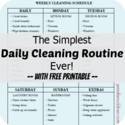 The Simplest Daily Cleaning Routine Ever