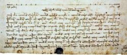 scribles from Leonardo da Vinci in mirror writing