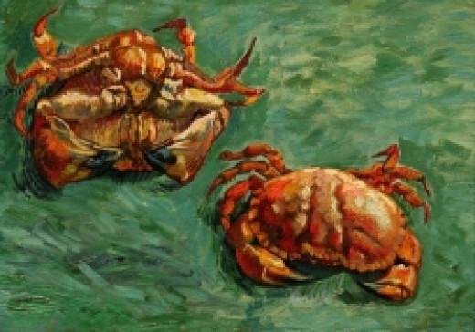 two crabs Vincent van Gogh