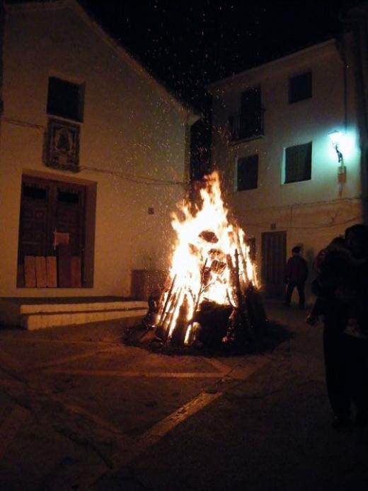 Bonfire in Spain