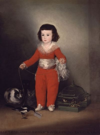 Francisco Goya - Boy with a pet magpie