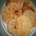 Piaya (sugar filled flat bread with sesame seeds)