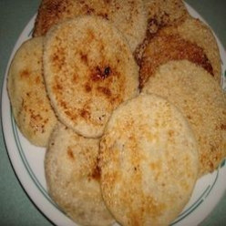 Piaya (sugar filled flat bread with sesame seeds)