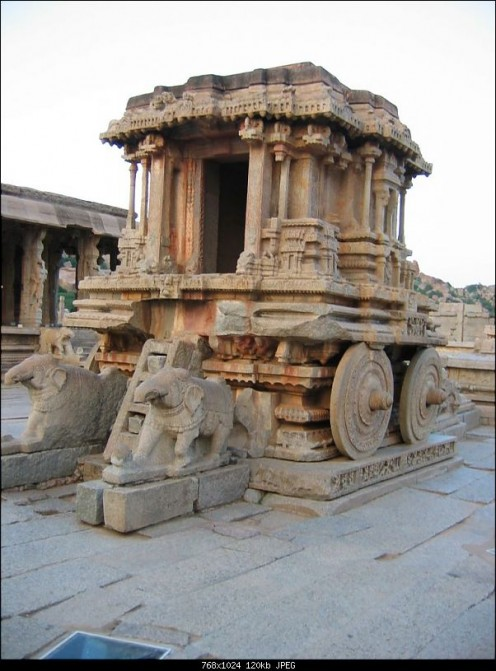 Stone chariot - At Hampi near Hospet (karnataka)