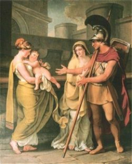 Hector's Farewell to Andromache, oil on canvas by Tischbein (1751-1829)