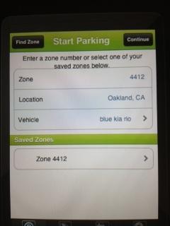 Parkmobile Start Session screen