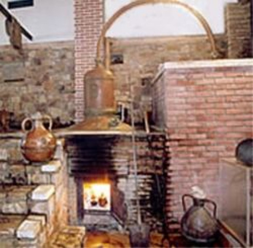 copper alembic for ouzo production