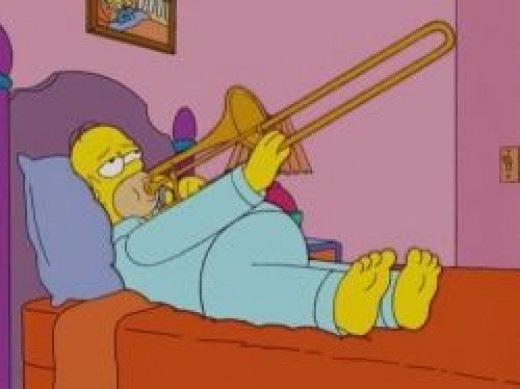 Yes I have played my trombone in bed