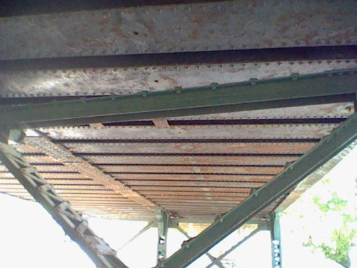 This means also looking up at the underside of the bridge.
