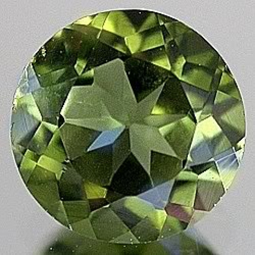 Dark Green Peridot round gem