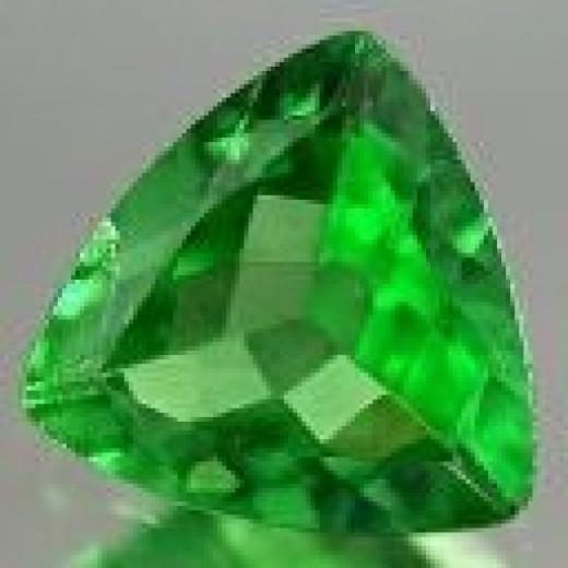 4mm trillion cut Tsavorite Green Garnet