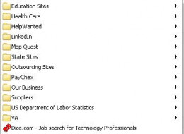 Have a section in your bookmarks / favorites for your job hunting sites