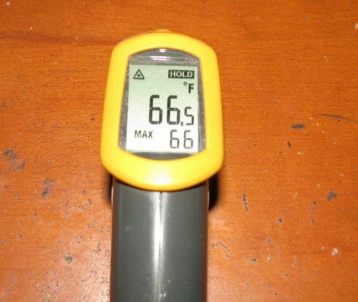 fluke ir thermometer screen