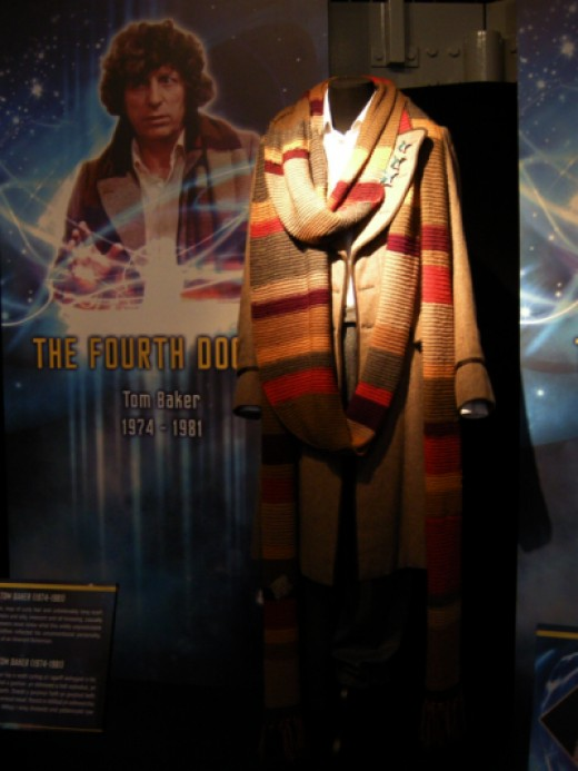 Tom Baker's original costume at The Doctor Who Experience, Cardiff Bay