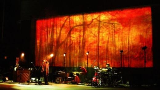 Jonsi on stage in Rome, Italy - copyright Deborah Swain