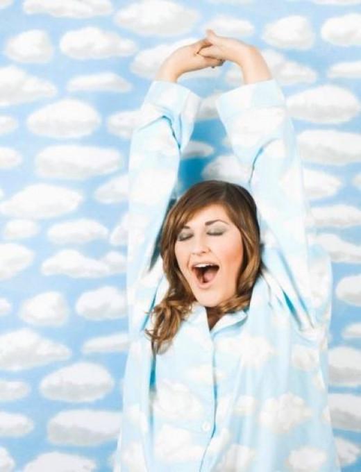 I'm floating...I'm floating...I'm floating on a bed of clouds... f-l-o-a-t-i-n-g...
