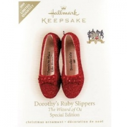 Hallmark 2009 Wizard Of Oz Dorothy's Ruby Slippers Ornament