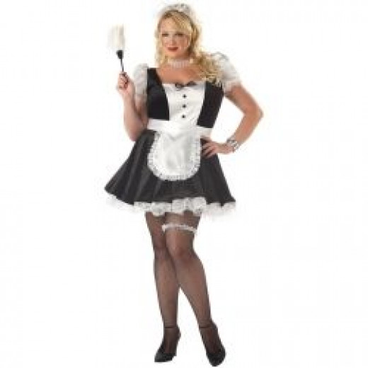 Fiona French Maid Plus Costume