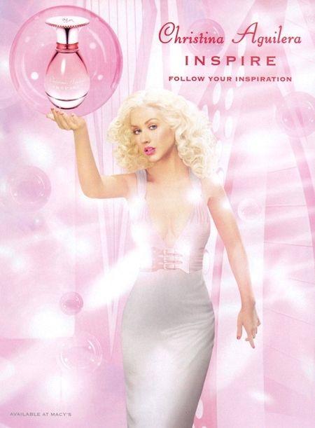 Christina Aguilera Inspire Perfume Print Ad