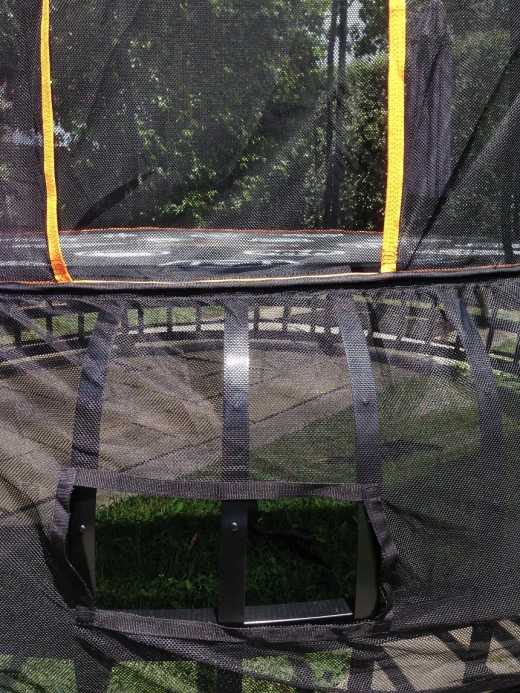 Ladder accessories not needed. Step forms part of the trampoline. Easy!