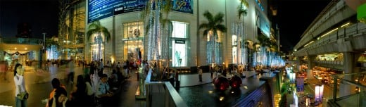 Siam Paragon - A very popular upscale shopping mall in Bangkok