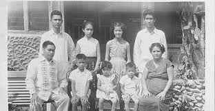 David J Katague Family in 1956. Photo Taken in front of our ancestral home at Barotac Viejo, Iloilo