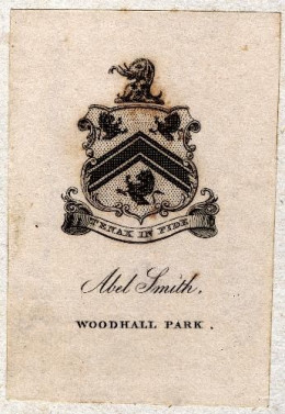 Example of heraldic coat of arms ex-libris