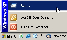 The RUN command in your start menu