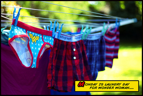 Laundry Day for Wonder Woman