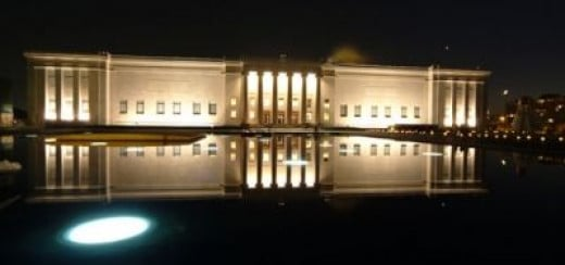 View The Nelson-Atkins Museum at Night