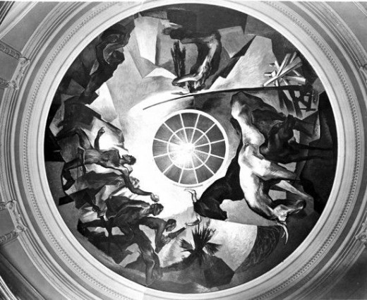 Rotunda ceiling mural by artist Eric Bransby