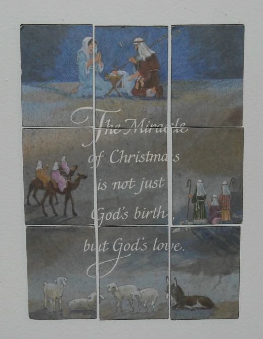 Another puzzle made from a Christmas card.