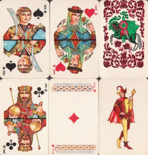 When I was in Russia I picked up a deck of cards. I thought this would be a great to share with everyone.