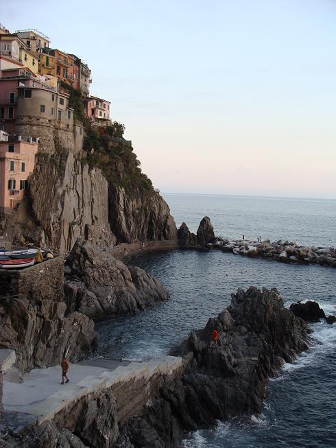 Manarola's swimming area in the Mediterranean