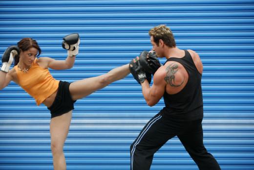 Kickboxing + proper breathing = powerful combination