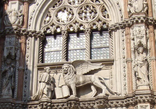 St. Mark and a Winged Lion
