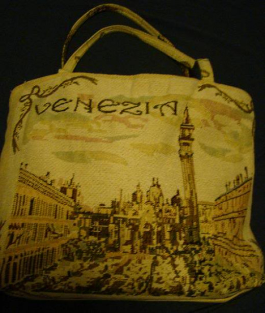 A cloth bag I bought in Venice