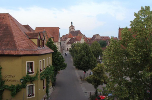 Rothenburg from atop the City Wall which is easily walkable.