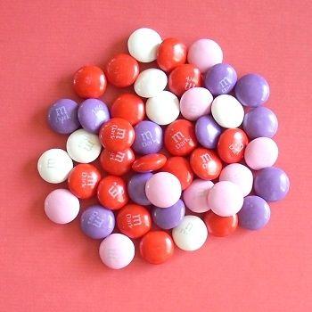 Dark Chocolate M&Ms for Valentine's Day