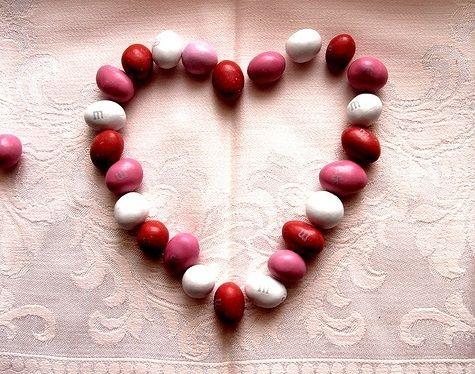 Valentine M&M's Red Pink White