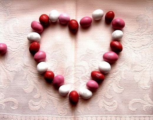 Valentine M&M's Red Pink White