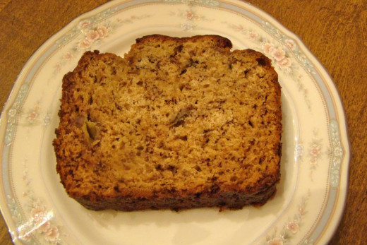 Warm Banana Bread - fresh from the oven!