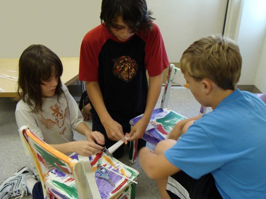 Engaging In A Critical Thinking Challenge: Building A Straw Bridge That Can Hold Weight